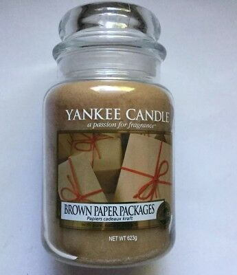 Yankee Candle My Favorite Things Collection Brown Paper Packages 22 Oz Jar Vhtf