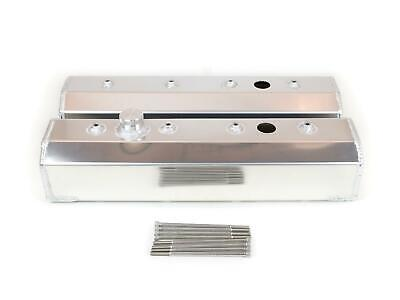 Canton Racing Fabricated Aluminum Valve Covers 65-205 Chevy Sbc 283 305 350 400