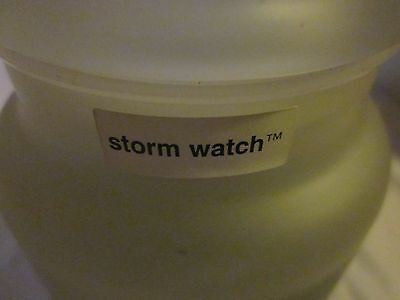 Very Rare Yankee Candle Frosted 22 Oz Jar Storm Watch Candle  *pre 1988