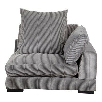 """43.5"""" W Corner Chair Sectional Deep Soft Seating 100% Polyester Solid Wood Frame"""