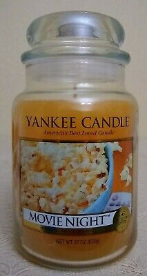 Yankee Candle Movie Night Buttered Popcorn Rare Collectors Edition 22 Oz 623 G.
