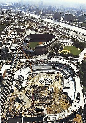 The New Yankee Stadium Going Up Next To The Old Stadium Aireal View Classic