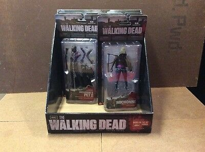 The Walking Dead Complete Series 3 Moc Action Figure W/ Rare Store Display Case