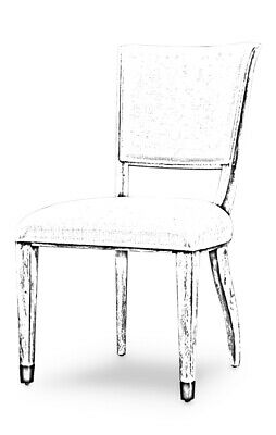 """21"""" W Rina Set Of 2 Dining Chair Whitewash Solid Wood Frame White Fabric Modern"""