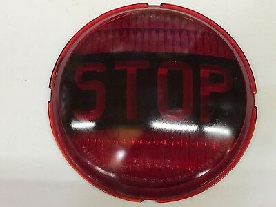 Nos Yankee Red Glass Stop Light Lens Car Old Truck Auto Bus Van Custom 6-15/16""