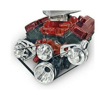 March Performance Pulley Kit Serpentine Aluminum Clear Chevy Big Block Kit 23053