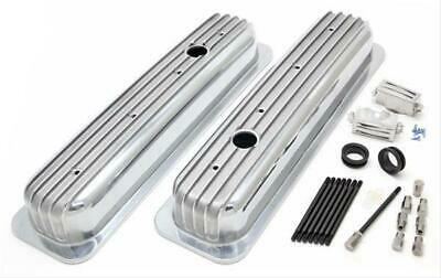 Trans-dapt Finned Aluminum Valve Covers 6607 Chevy Sbc 283 305 350 400 Polished
