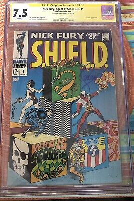 Nick Fury Agent Of Shield #1 Cgc 7.5 Signed Jim Steranko & Issue #2, 2 Book Lot
