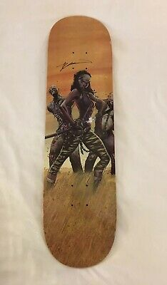 Rob Kirkman Signed Walking Dead Skate Deck Michonne  Skybound Sdcc 2019 Ltd 200