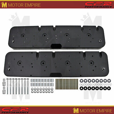 Fits 1958-86 Chevy Ls Coil Valve Covers Adapter Kit Black 3 Configuration