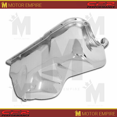 Fits 1988-96 Ford Small Block 351w Windsor Stock Capacity Truck Oil Pan Chrome