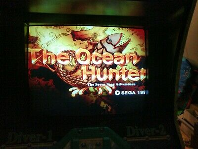 "Ocean Hunter Arcade Game 29"" Very Rare Japanese Model Us Board"