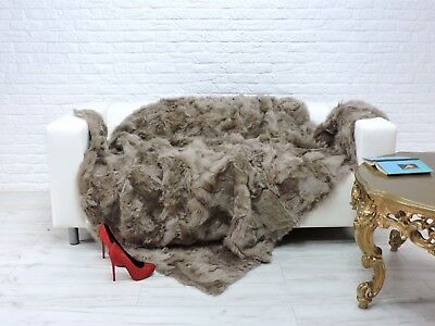 Real Toscana Throw Blanket Bed Sofa Cover Mink Color #216