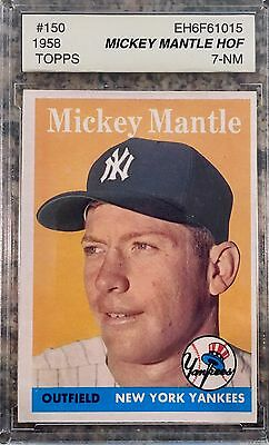 1958 Topps #150 - Mickey Mantle - Asa 7 Near Mint - Ny Yankee