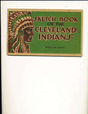 1917 Sketch Book Of The Cleveland Indians Yearbook 1st Rare.