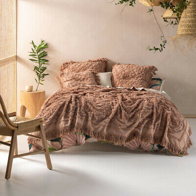 New Linen House Somers Maple Cotton Queen King Coverlet Bed Cover Throw