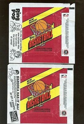 Lot Of 20 1981-82 Topps Basketball Card Wax Pack Wrappers