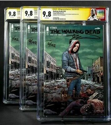 The Walking Dead 192 Skybound Sdcc Exlcusive Cgc 9.8 Ss Kirkman Adlard #41/100