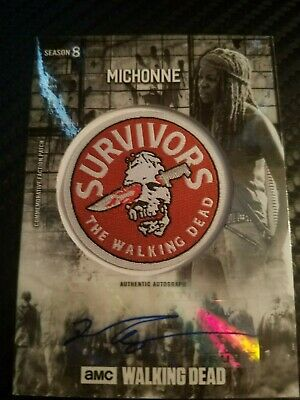 2018 True 5/5 Michonne Patch Autograph Auto Walking Dead