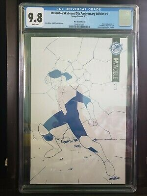 Invincible 1 Skybound 5th Anniversary Edition Blue Sketch Cover Cgc 9.8