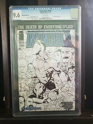 Invincible 100 Image/skybound Ottley Sketch Cover Cgc 9.6 Comixology 1:500