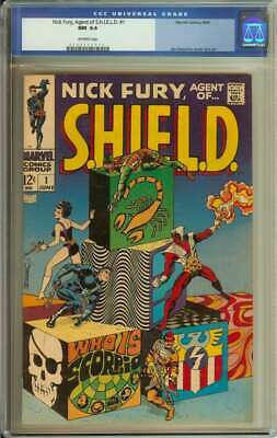 Nick Fury, Agent Of Shield #1 Cgc 9.4 Ow Pages