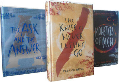 Patrick Ness Chaos Walking Signed Trilogy All Signed First Editions First Prints