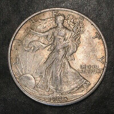 1935-s Walking Liberty Half Dollar - Totally Original - High Quality Scans #h954
