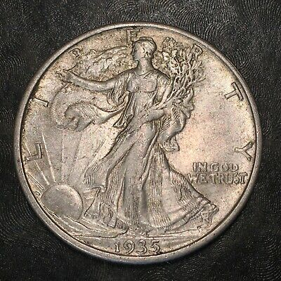 1935-s Walking Liberty Half Dollar - Totally Original -high Quality Scans #h959
