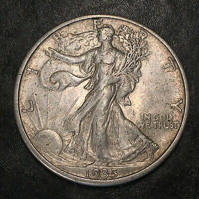1935-s Walking Liberty Half Dollar - Totally Original - High Quality Scans #h957