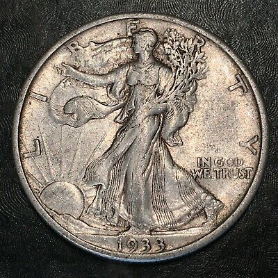 1933-s Walking Liberty Half Dollar - Totally Original - High Quality Scans #h873