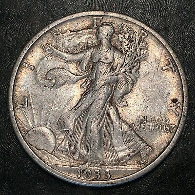 1933-s Walking Liberty Half Dollar - Totally Original - High Quality Scans #h872