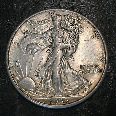 1935-s Walking Liberty Half Dollar - Totally Original -high Quality Scans #h970