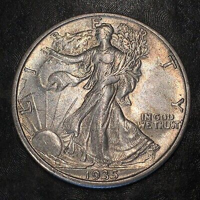1935-s Walking Liberty Half Dollar - Totally Original -high Quality Scans #h967