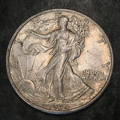 1935-s Walking Liberty Half Dollar - Totally Original -high Quality Scans #h969