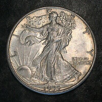 1935-s Walking Liberty Half Dollar - Totally Original -high Quality Scans #h979
