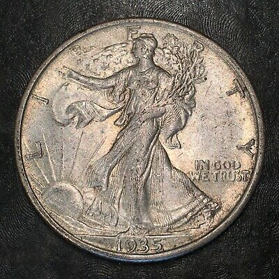 1935-s Walking Liberty Half Dollar - Totally Original -high Quality Scans #h965
