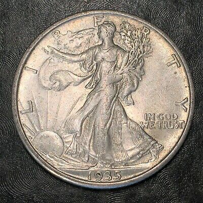 1935-s Walking Liberty Half Dollar Totally Original - High Quality Scans #h908