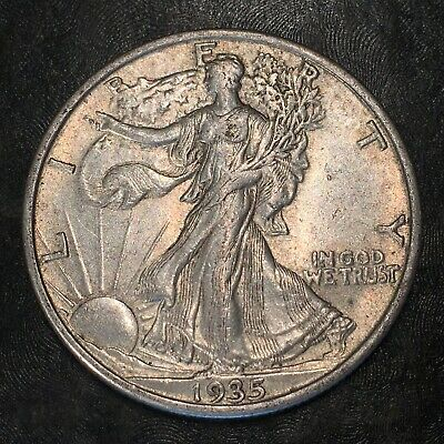 1935-s Walking Liberty Half Dollar - Totally Original -high Quality Scans #h966