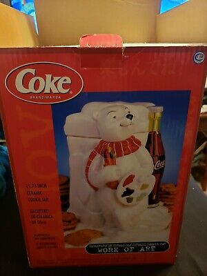 Coca Cola Polar Bear Cookie Jar Work Of Art By Gibson Housewares
