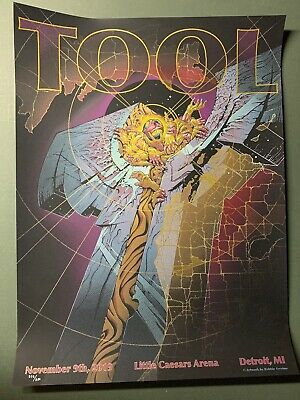 Tool Band Concert Poster Print Little Caesars Arena Detroit Embossed