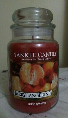 Yankee Candle Berry Tangerine Hard To Find 22 Oz   623 G.