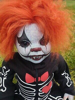 "Reborn Horror 23"" Vampire Doll Haunted Prop Clown Zombie Walking Dead"
