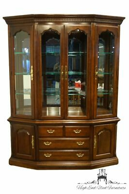 "Thomasville Furniture Collectors Cherry Collection 64"" Breakfront Lighted Dis..."