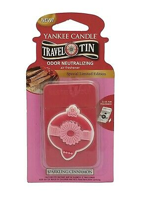Yankee Candle Travel Tin / Sparkling Cinnamon / Special Limited Edition / New