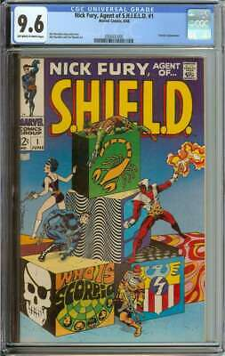 Nick Fury, Agent Of Shield #1 Cgc 9.6 Ow/wh Pages