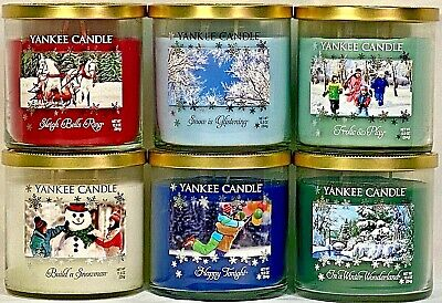 Rare Set 7 Yankee Candle 12.5oz Le 2-wick Tumbler Winter Wonderland Collection
