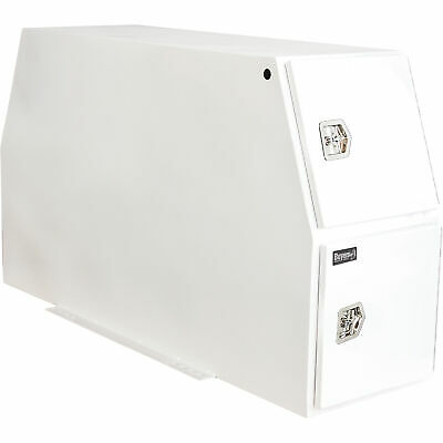 Buyers Products Bp855524w Heavy Steel Backpack Truck Box-white,24inlx85inwx55inh