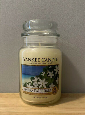 *brand New Retired And Very Rare Yankee Candle Tahitian Tiare Flower Large Jar*