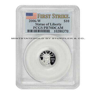 2006-w $10 Platinum Eagle Pcgs Pr70dcam First Strike Deep Cameo West Point Coin
